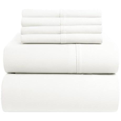 Westbury Home Cotton Sateen Sheet Set - Queen, 400 TC