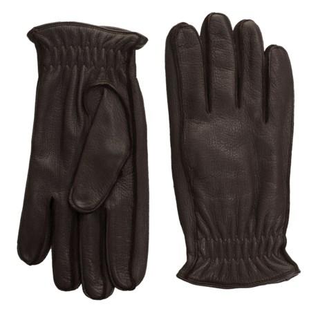 Portolano Elasticized Deerskin Gloves - Cashmere Lined (For Men)
