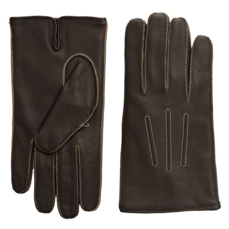 Portolano Deerskin Gloves - Cashmere Lined (For Men)