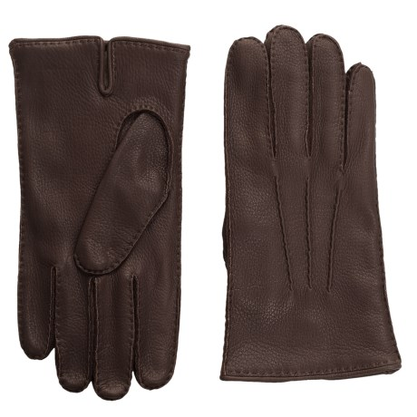Portolano Handsewn Deerskin Gloves - Cashmere Lined (For Men)