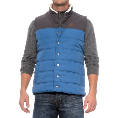 Avalanche Moss Canvas Vest - Insulated (For Men)