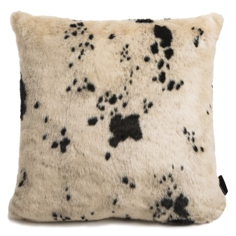 Max Studio Faux-Cowhide Throw Pillow - 20x20""