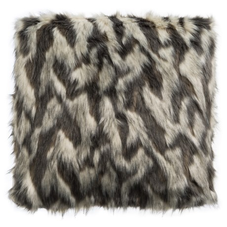 Bella Lux Lois Faux-Fur Throw Pillow - 20x20""
