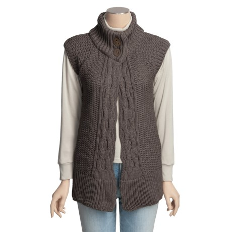 Peregrine by J.G. Glover Merino Wool Cardigan Sweater - Sleeveless (For Women)