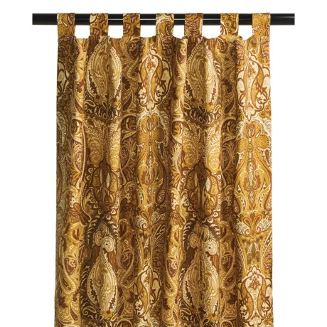 """Commonwealth Home Fashions Dabney Paisley Curtain Panel Pairs - 106x84"""", Tab-Top"""