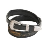 AA&E Leathercraft Belt - Mossy Oak® Camo Inlay (For Men)