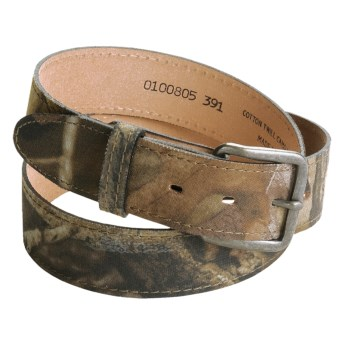 AA&E Leathercraft Camo Belt - Cotton Twill (For Men)