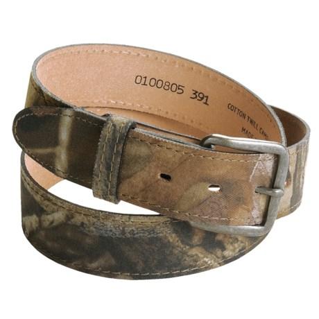 AA&E Leathercraft Camo Belt - Cotton Twill (For Men)