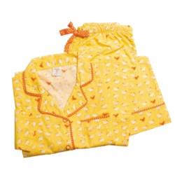 Munki Munki Classic Pajamas - Cotton Poplin, Long Sleeve (For Women)