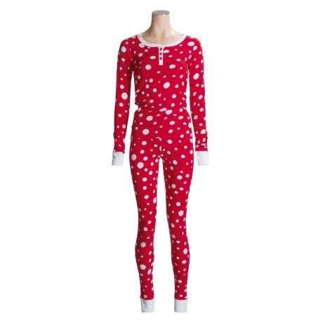 Hatley Rib-Knit Cotton Pajamas - Long Sleeve - Henley (For Women)