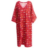 Toast and Jammies V-Neck Nightshirt - Missy Cut, Short Sleeve (For Women)