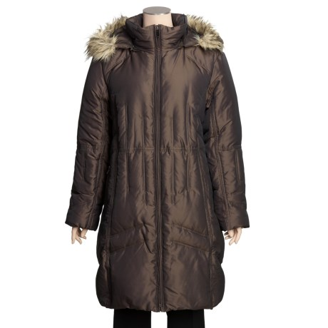 London Fog Down Coat - Plus Size, Faux-Fur Trim (For Women)