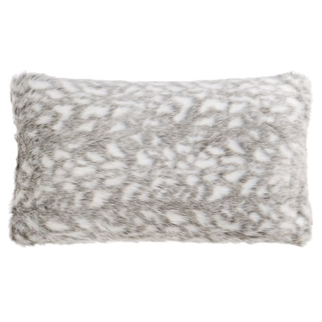 Nicole Miller Winston Faux-Fur Throw Pillow - 14x24""