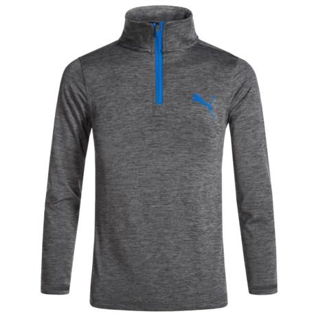 Puma Zip Neck Shirt - Long Sleeve (For Little Boys)