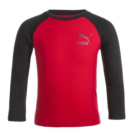 Puma Color-Blocked Logo T-Shirt - Long Sleeve (For Little Boys)