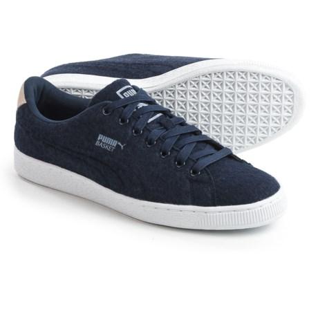 Puma Basket Classic Embossed Wool Sneakers (For Men)