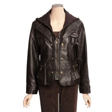 Regent Park Faux-Lamb Jacket - Knit Hood, Zip Front (For Women)