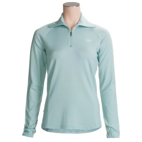 Icebreaker Bodyfit 260 Midweight Base Layer Top - Merino Wool, Zip Neck, Long Sleeve (For Women)