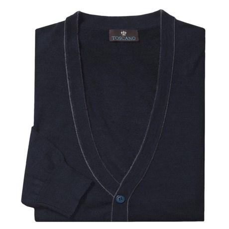 Toscano Cardigan Sweater - Merino Wool (For Men)