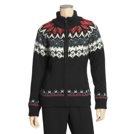 Icewear Grethe Sweater Jacket - Wool (For Women)