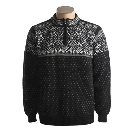 Icewear Oslo Zip Neck Sweater - Pure Worsted Wool (For Men and Women)