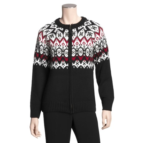 Icewear Birgitta Sweater - Cotton, Full Zip (For Women)