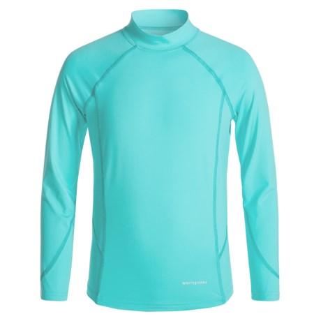White Sierra Sun Barrier T-Shirt - UPF 30, Mock Neck, Long Sleeve (For Little and Big Girls)