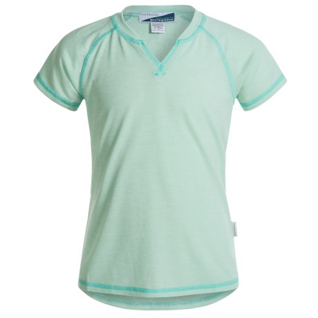 White Sierra Bug-Free Insect Shield® Notch T-Shirt - Short Sleeve (For Little and Big Girls)