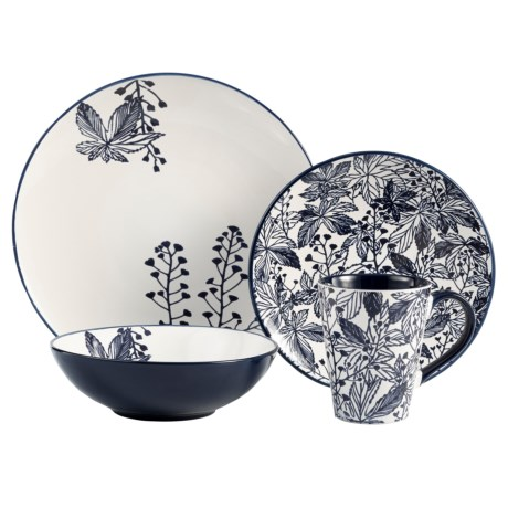 American Antelier Floral Earthenware Dinnerware Set - 16-Piece