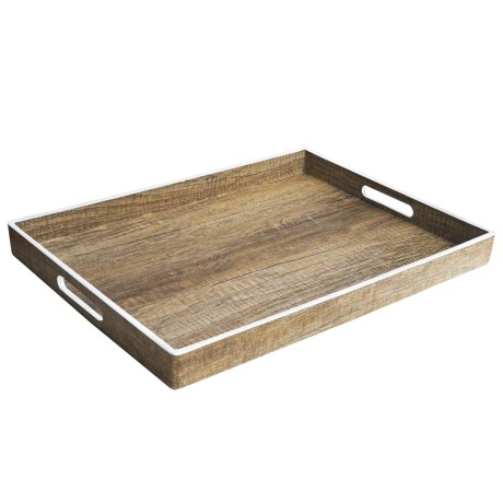 American Antelier Poplar Finish Serving Tray - 14x19""