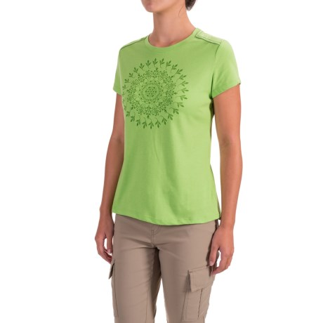 White Sierra Mandala T-Shirt - Short Sleeve (For Women)
