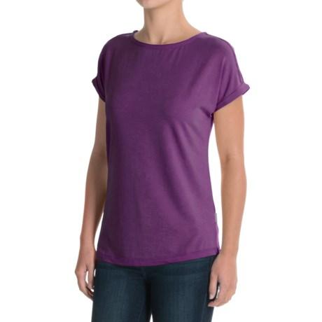 White Sierra Day Tour T-Shirt - Cotton-Modal, Short Sleeve (For Women)