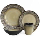 American Antelier Cordoba Earthenware Dinnerware Set - 16-Piece