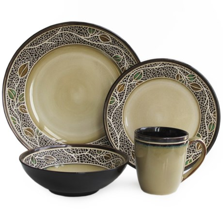 American Antelier Cordoba Earthenware Dinnerware Set - 16-Piece