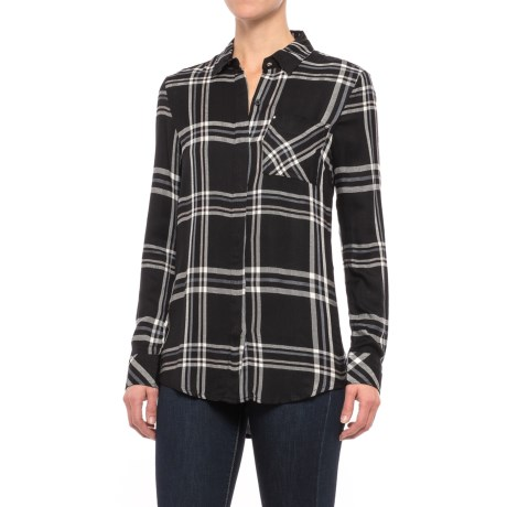 Workshop Republic Clothing Studded Pocket Plaid Shirt - Long Sleeve (For Women)