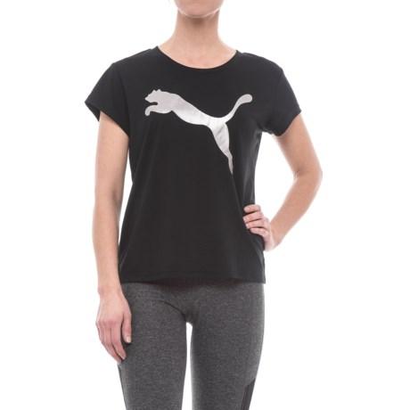 Puma Urban Sports Logo T-Shirt - Short Sleeve (For Women)