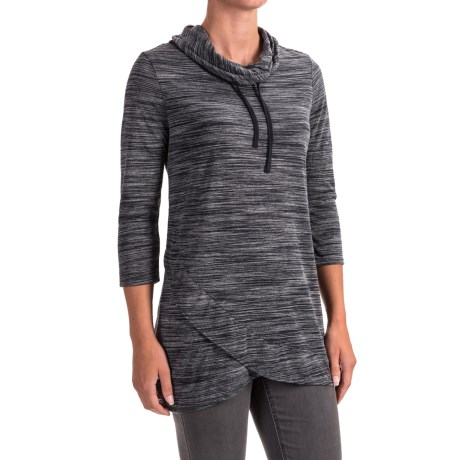 Workshop Republic Clothing Crossover Hem Shirt - 3/4 Sleeve (For Women)