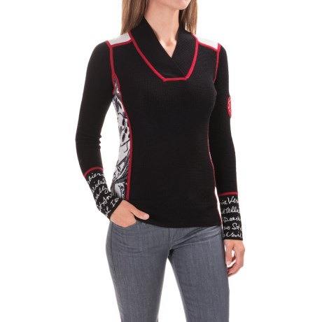Krimson Klover Powder Posse V-Neck Sweater - Merino Wool (For Women)