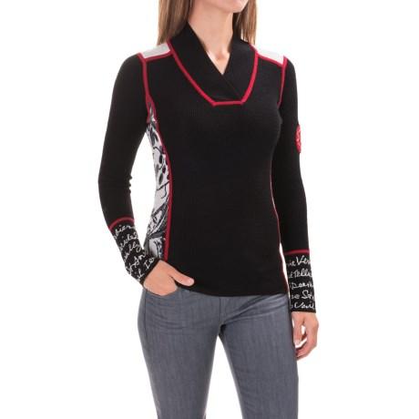 Krimson Klover Powder Posse V-Neck Sweater - Merino Wool (For Women)