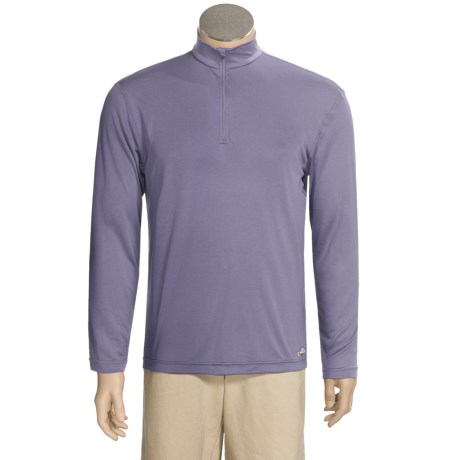 Hot Chillys Peachskins Base Layer Top - Zip Neck, Midweight, Long Sleeve (For Men)