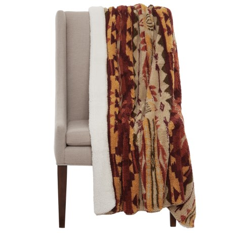 Artisan de Luxe Apache Sherpa Fleece Throw Blanket - 50x60""