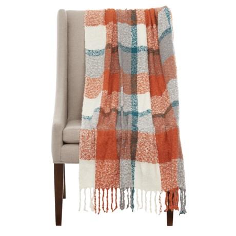 "Max Studio Harvest Plaid Throw Blanket - 50x60"""
