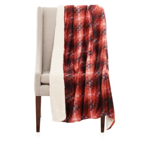 "Isaac Mizrahi Pixel Reversible Throw Blanket - 50x60"""