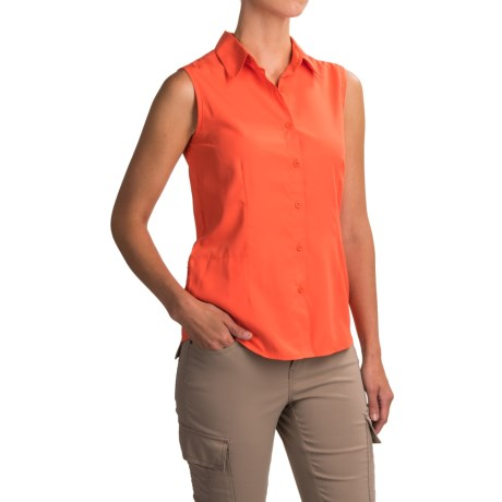 White Sierra Gobi Desert Shirt - UPF 30, Sleeveless (For Women)