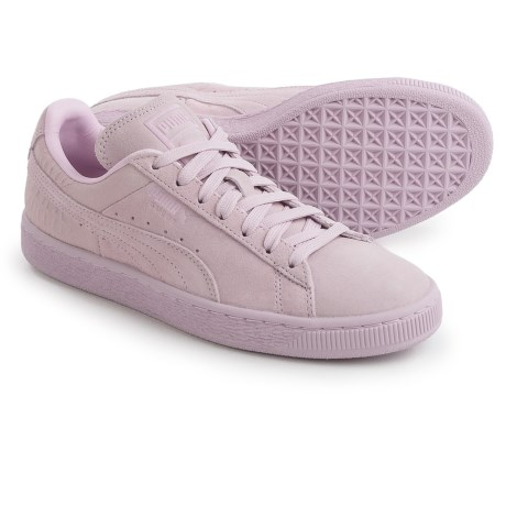 Puma Classic Embossed Sneakers - Suede (For Women)