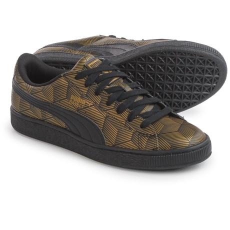 Puma Basket Classic Metallic Sneakers - Vegan Leather (For Women)