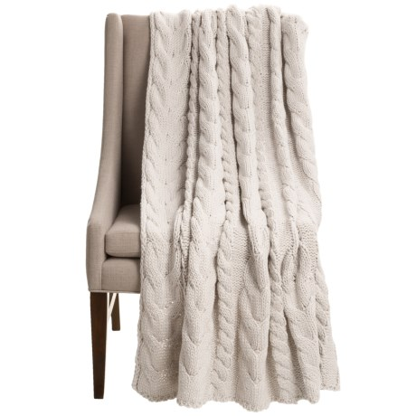 Anew Iceland Braid Throw Blanket - 52x68""