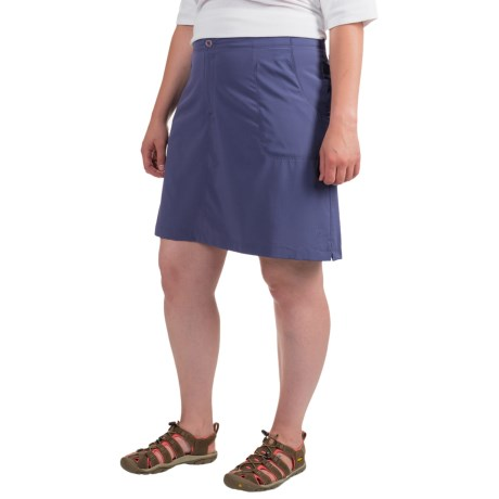 White Sierra West Loop Trail Skort (For Plus Size Women)