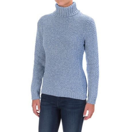 Cotton Country Fergie Aran Turtleneck Sweater (For Women)