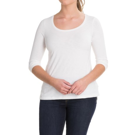 Lucy & Laurel Side-Slit Shirt - 3/4 Sleeve (For Women)